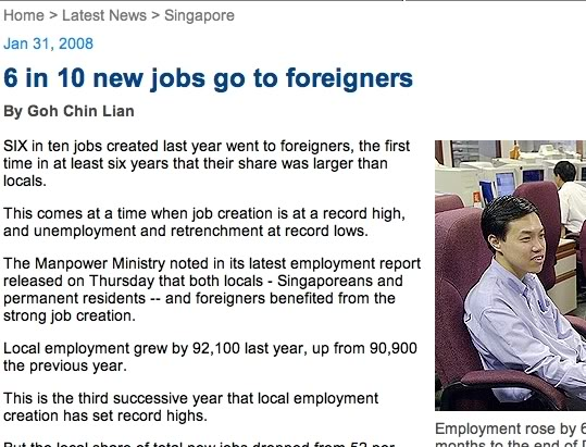 issue of foreigners in singapore 'unacceptable nearly 40% of population is made up of foreigners  the more important issue is the presence of the 2 million  singapore as one of singapore's.